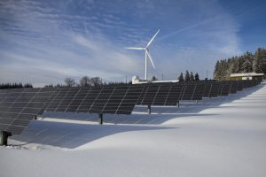 Solar and wind power for electricity production